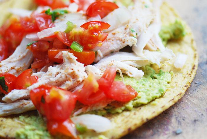 Chicken and Guacamole Tostadas – Recipe Diaries
