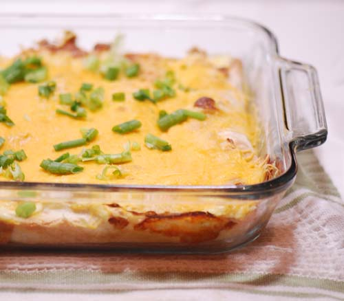 Weight Watchers Recipes |  Cheesy Chicken Enchiladas