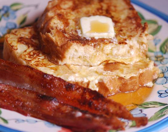 Alton Brown's French Toast + Maple Chipotle Bacon