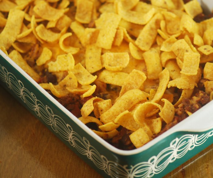 Low Fat Chili Frito Pie
