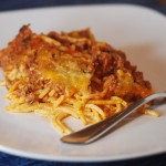 cream cheese spaghetti casserole 002