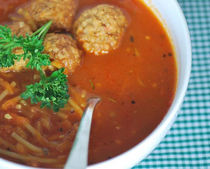 Spaghetti and Meatball Soup – Recipe Diaries