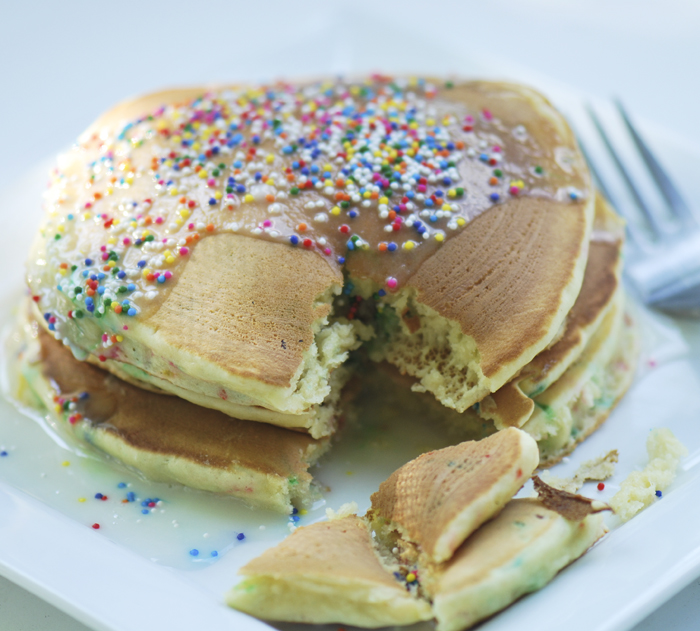 Cake Batter Pancakes – Recipe Diaries