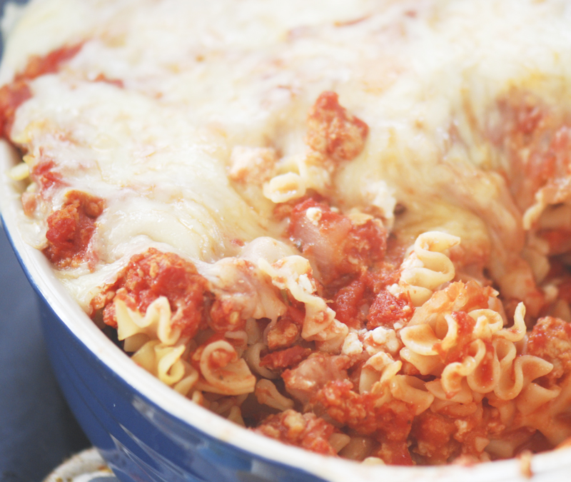 Baked Pasta With Chicken Sausage Recipe — Dishmaps