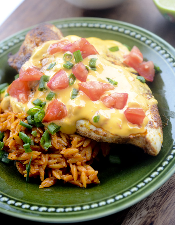 Queso Smothered Chicken
