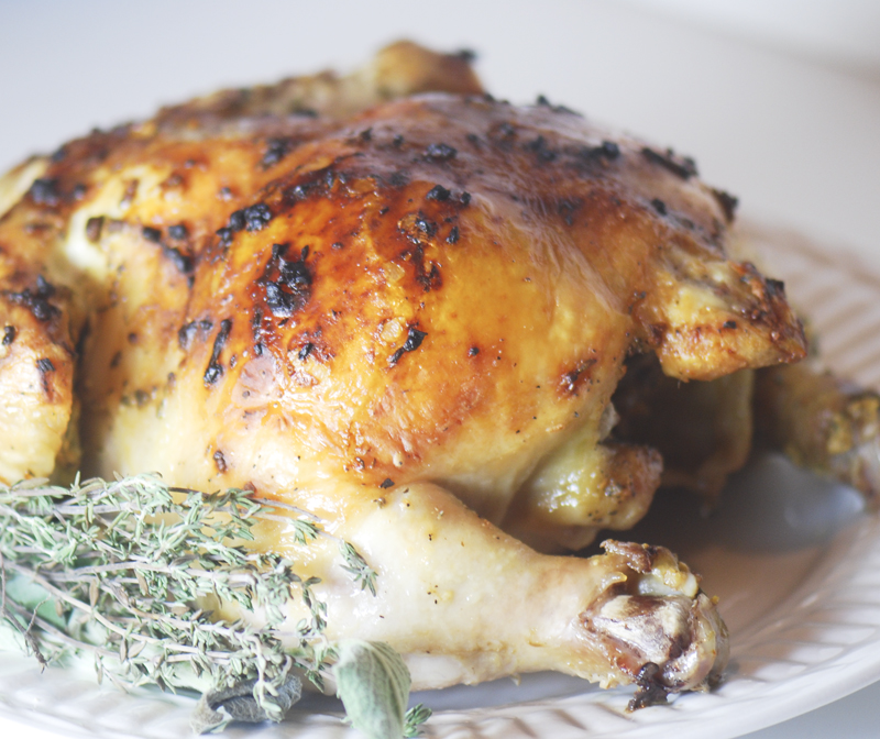 Mustard Spanked Chiken + a giveaway (contest closed)