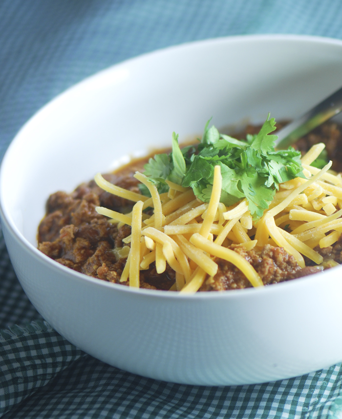 A Little Bit Healthier Chili…