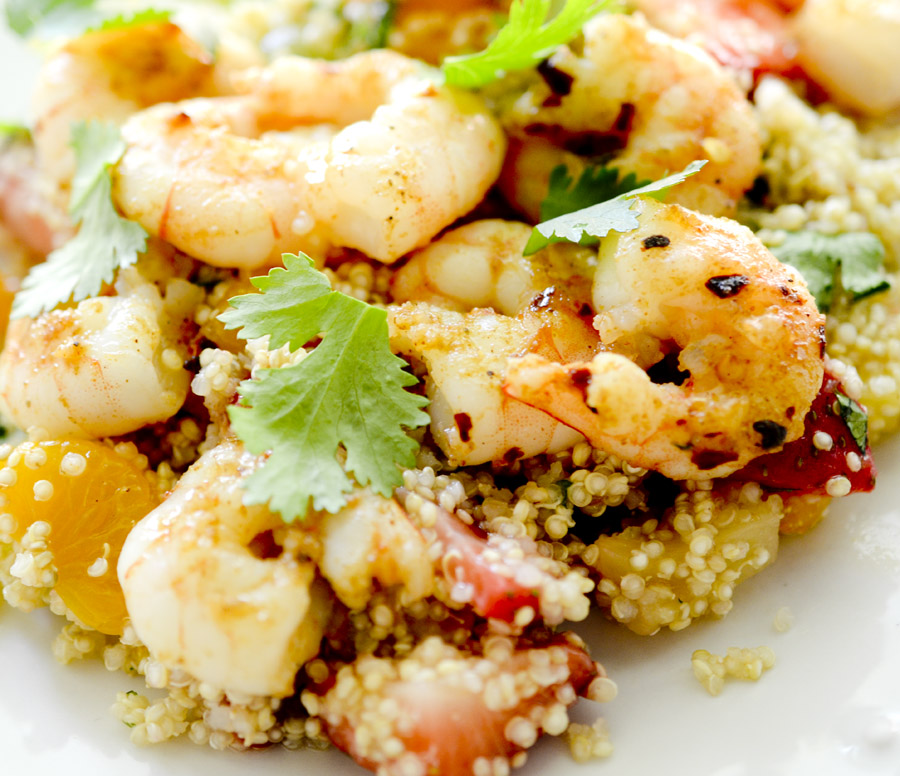 Jerk Shrimp with Caribbean Quinoa