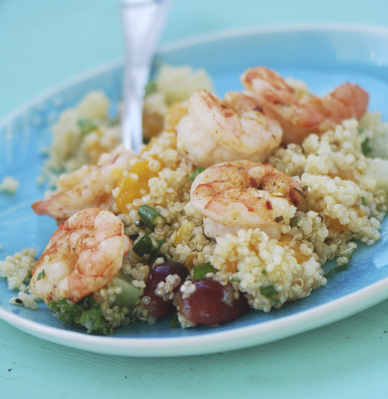 Jerk Shrimp with Caribbean Quinoa