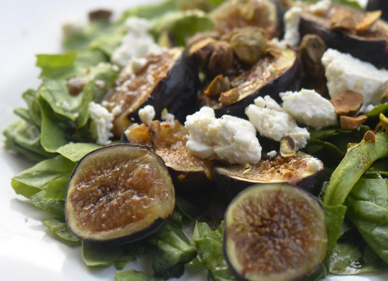 Honey Glazed Grilled Fig Salad