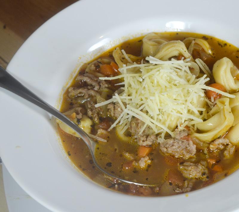 Italian Sausage Tortilleni soup