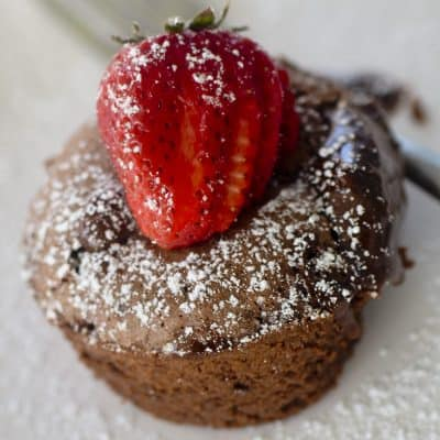 Air Fryer Molten Lava Cake