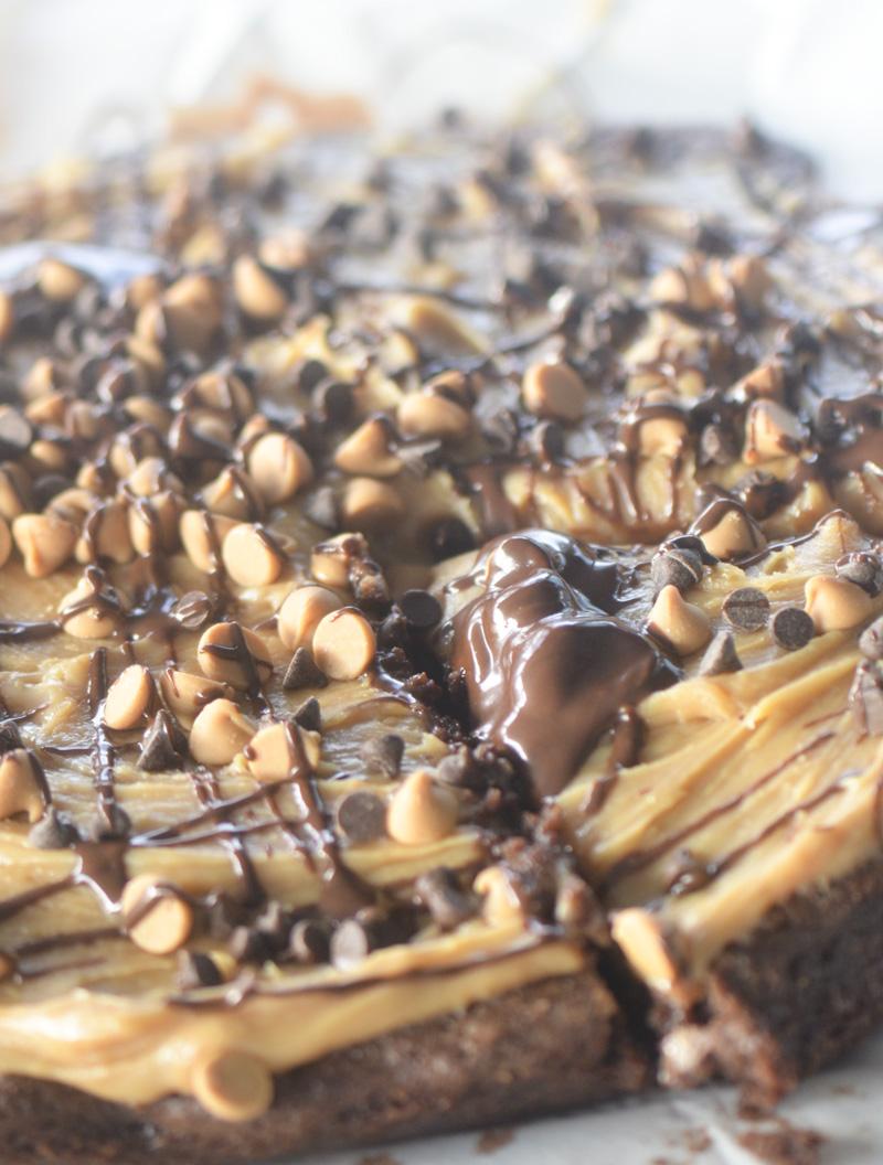 Peanut Butter Brownie Pizza – Recipe Diaries: www.recipe-diaries.com/2014/03/23/peanut-butter-brownie-pizza