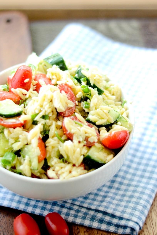 Greek Orzo Salad with Mustard-Dill Vinaigrette 008
