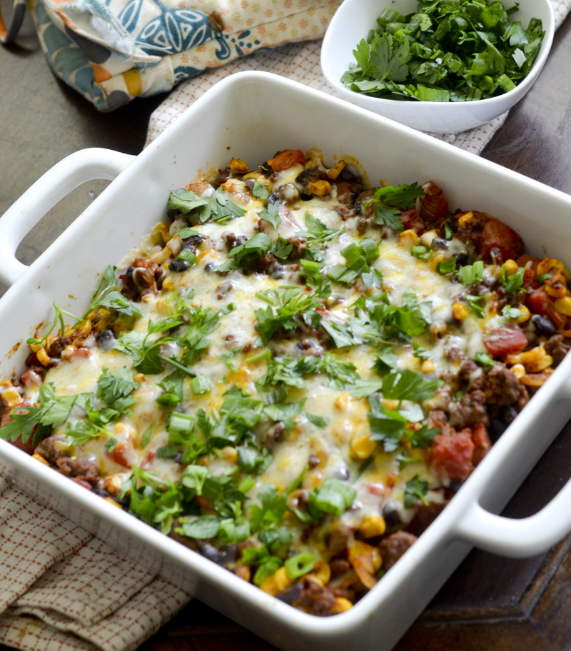 Weight Watcher's Mexican Casserole | Healthy Mexican Recipes | Homemade Recipes