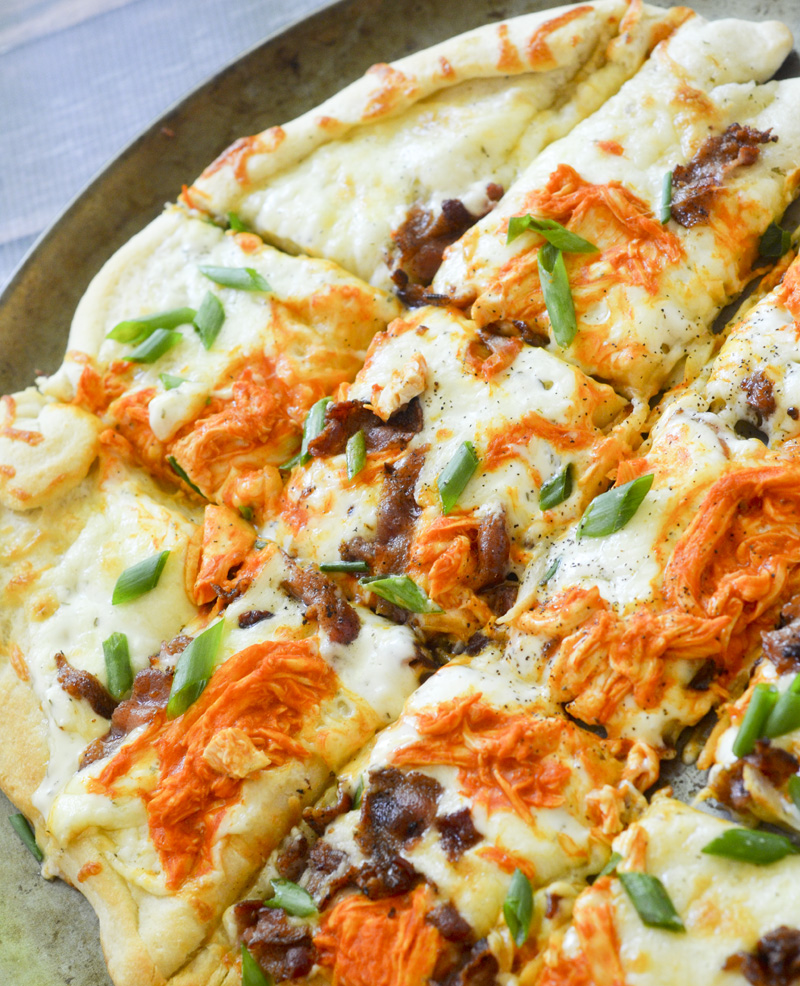 Buffalo Chicken Ranch Pizza 002