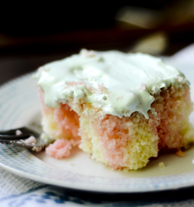 Watermelon Poke Cake 005