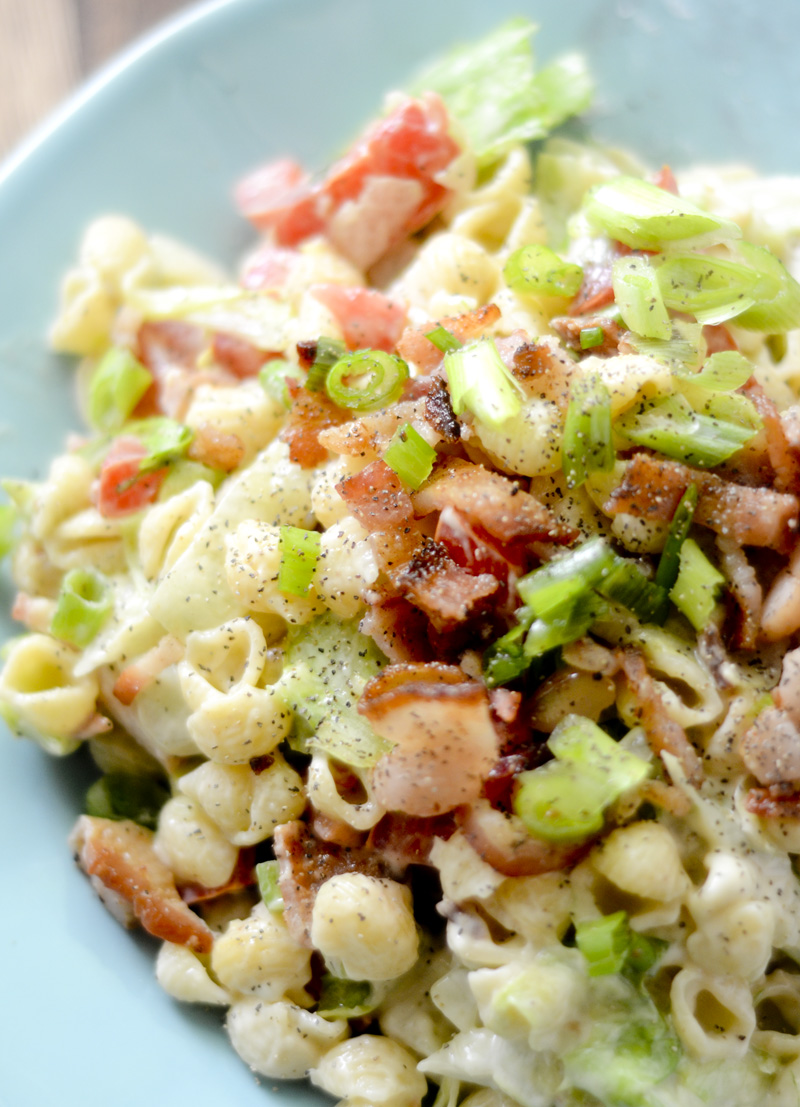 This fun Weight Watcher's BLT Pasta Salad is the perfect side to ...