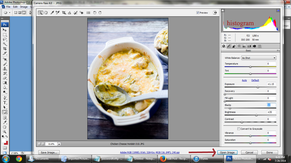 How to edit food photos in Photoshop