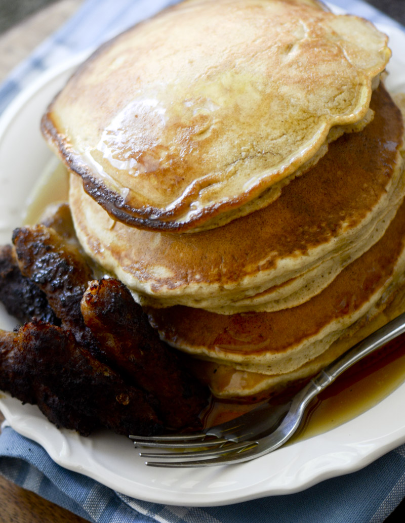 Cinnamon Applesauce Pancakes 015