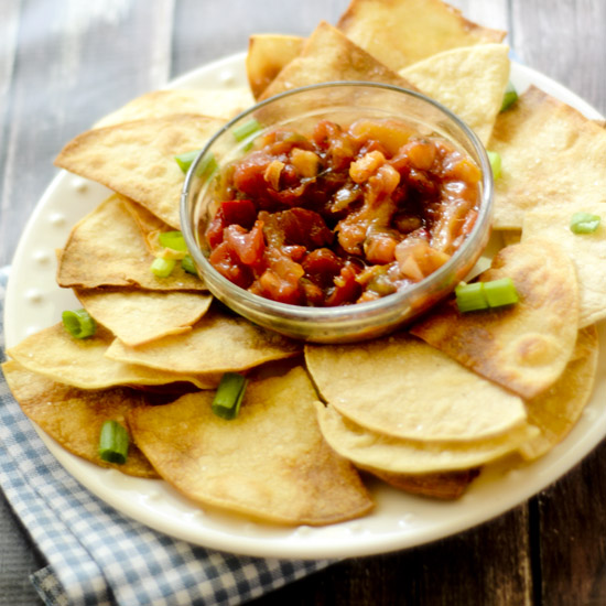 Homemade Baked Tortilla Chips 013