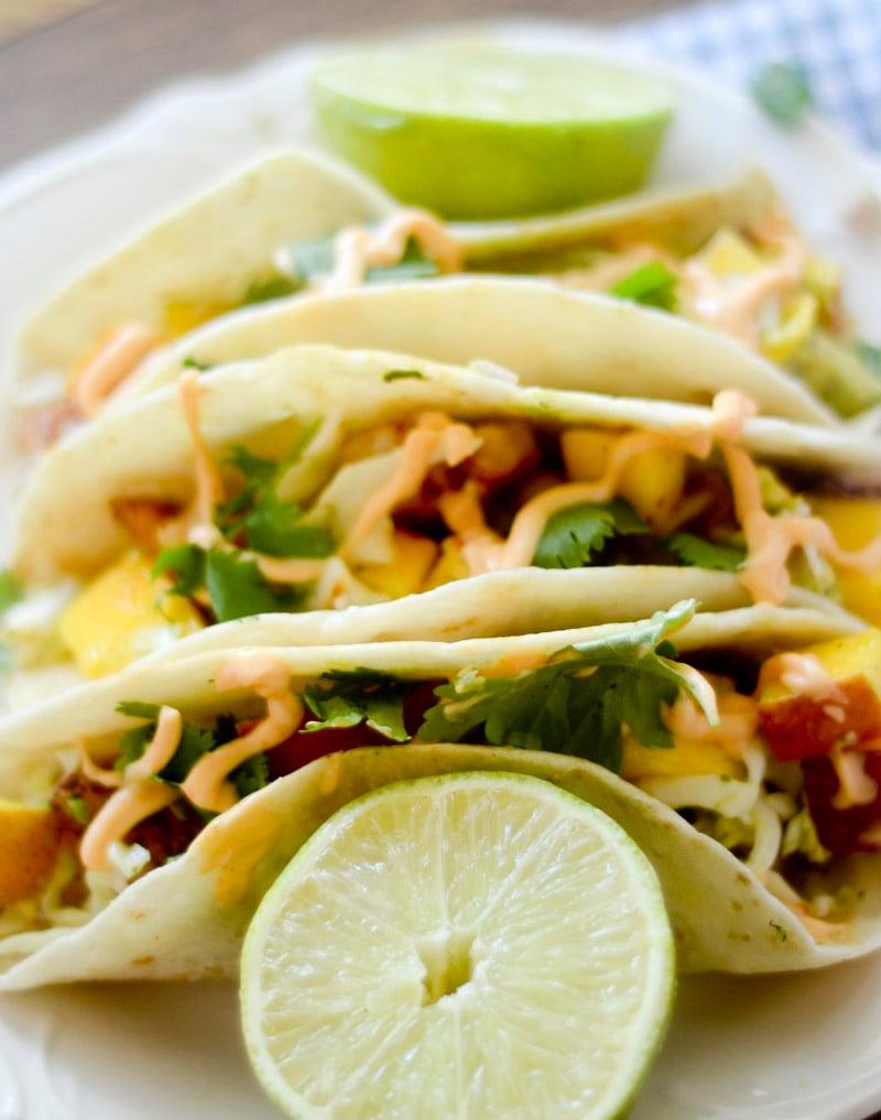 Shrimp Tacos with Mango Citrus Slaw 005
