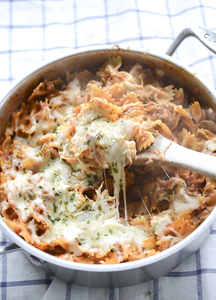 Easy Lasagna Pasta Skillet - Ready in 20 minutes!