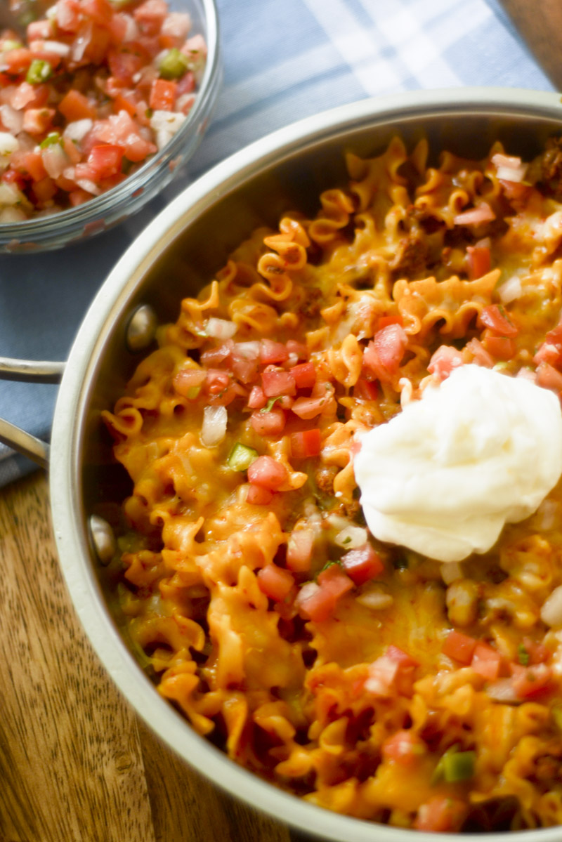 One Pot Enchilada Pasta