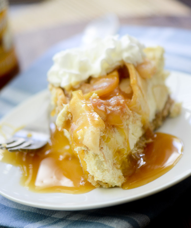 caramel apple cheesecake 011