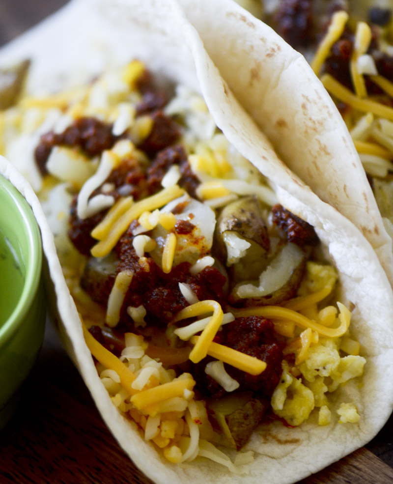 Chorizo and Potato Breakfast Tacos – Recipe Diaries