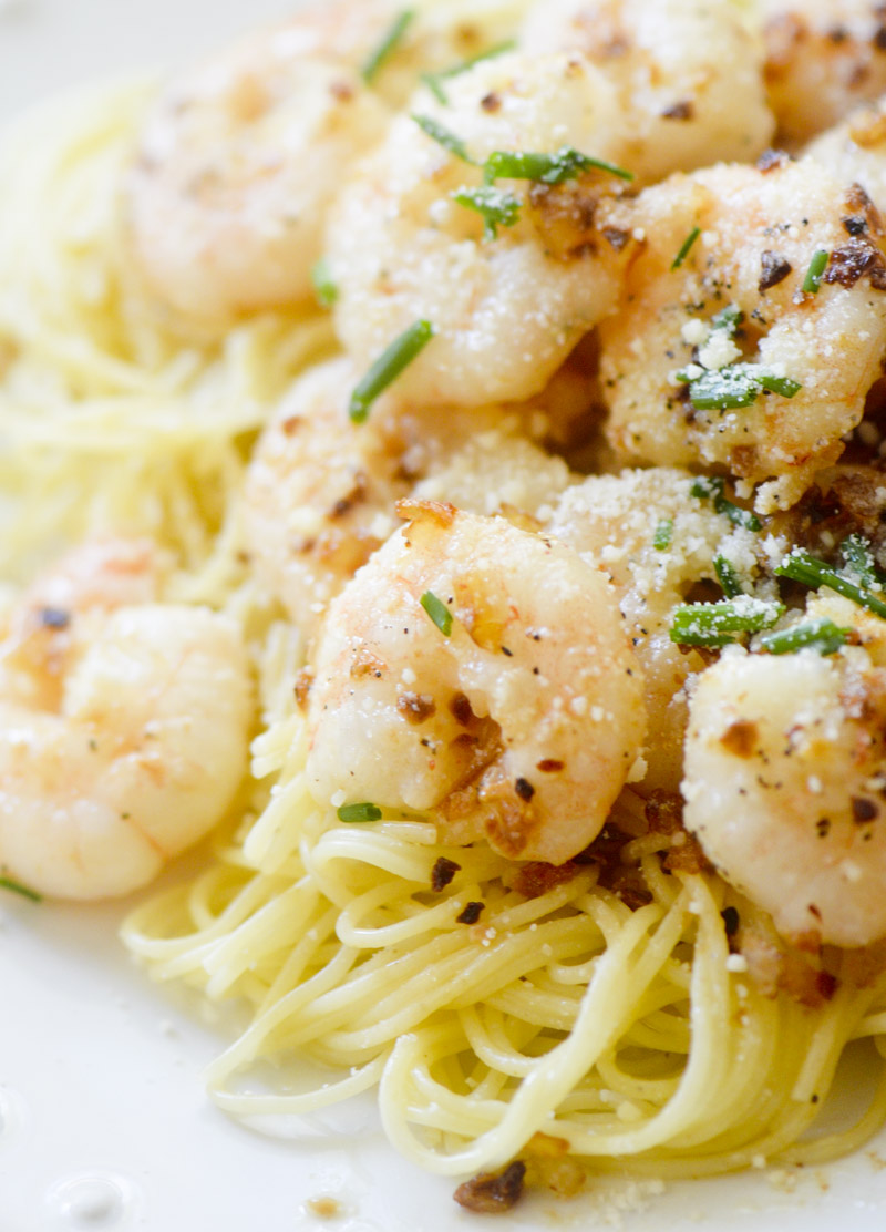 Browned Butter Shrimp Scampi