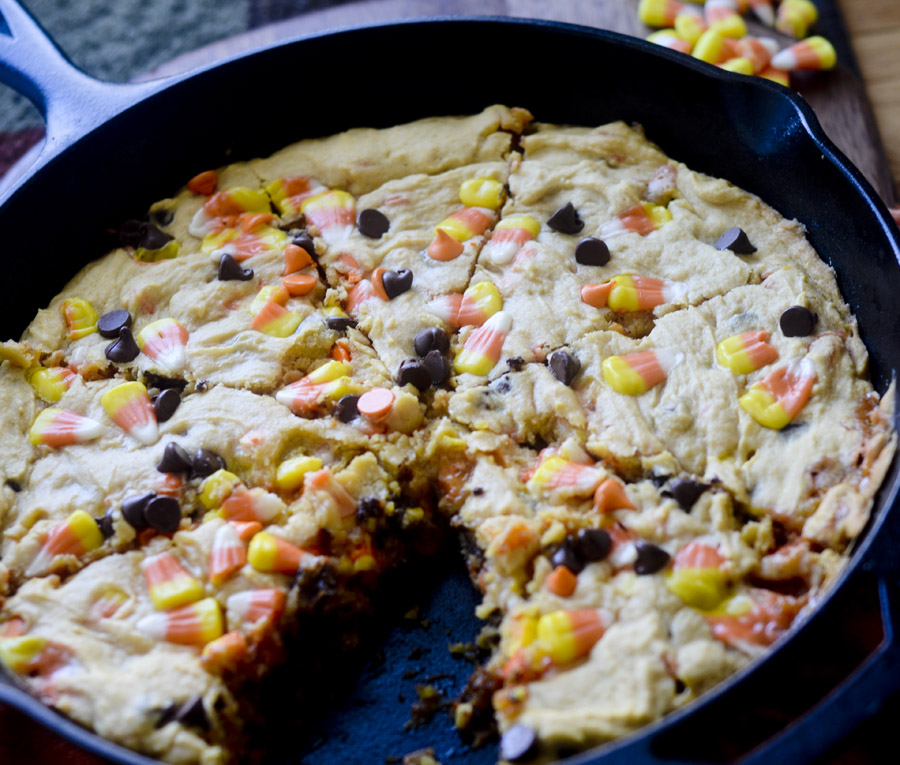 Candy Corn Cookie Pizza 031