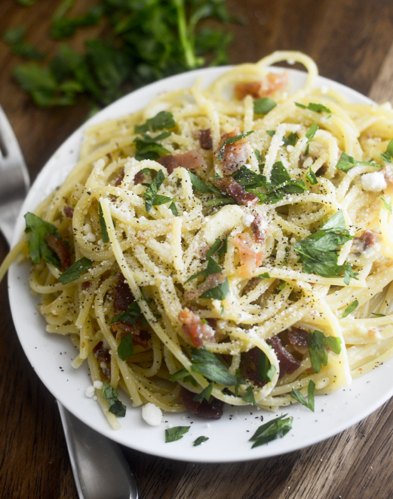 Pasta Time! A Deconstructed Carbonara Recipes — Dishmaps