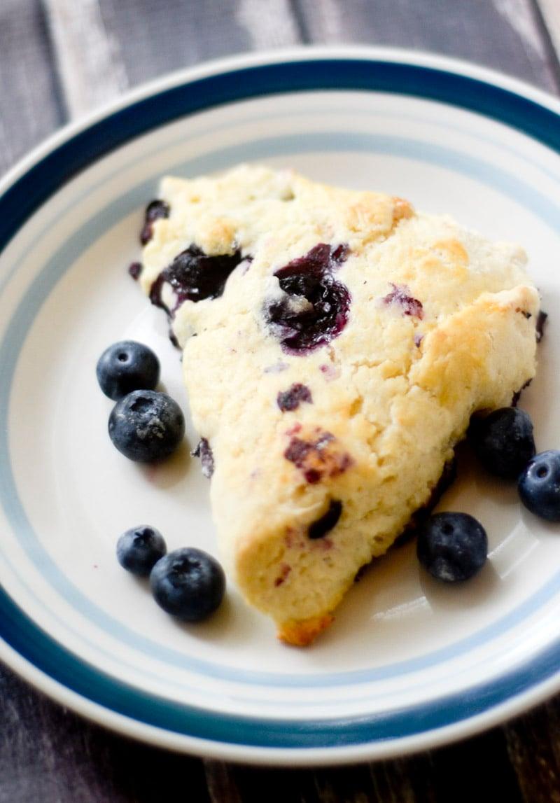 Low Fat Blueberry Scones Recipe — Dishmaps