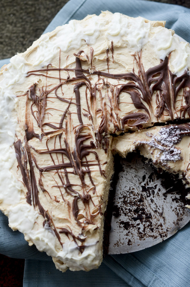 peanut butter brownie cheesecake 017