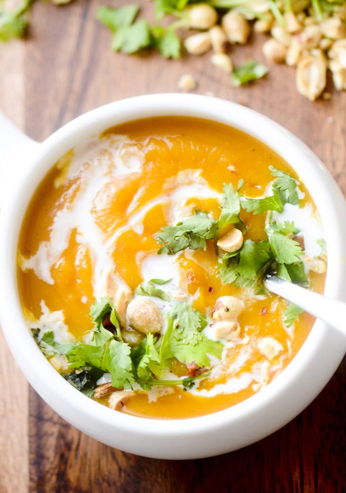 thai curried butternut squash soup 014