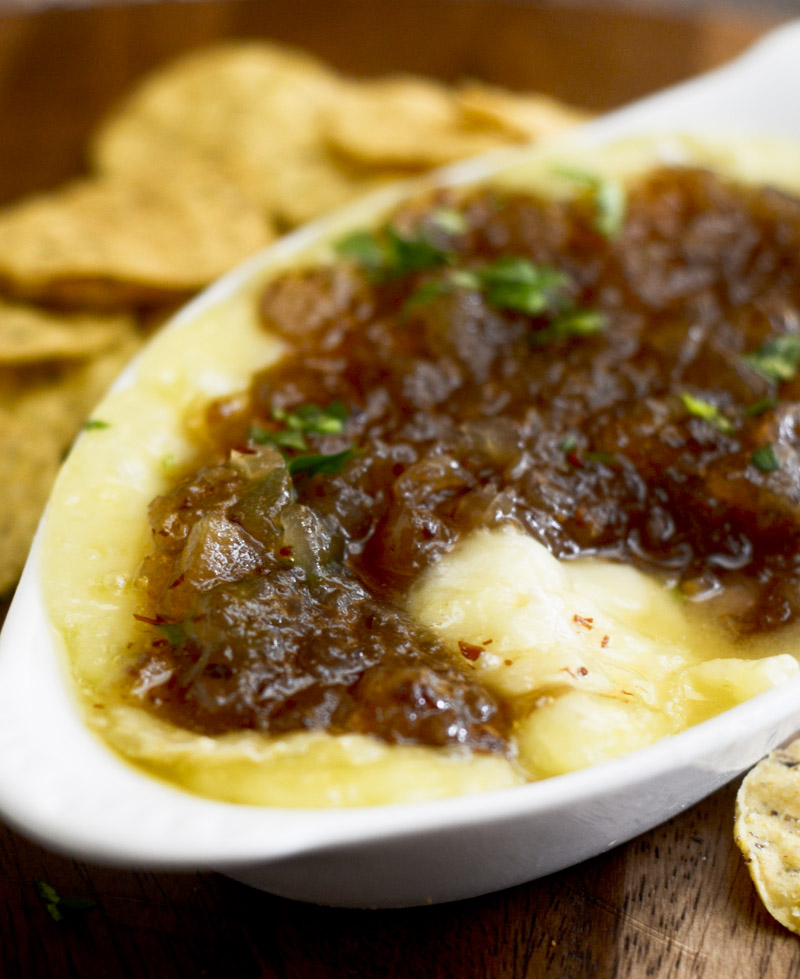 Baked Brie with Maple Bacon Onion Jam