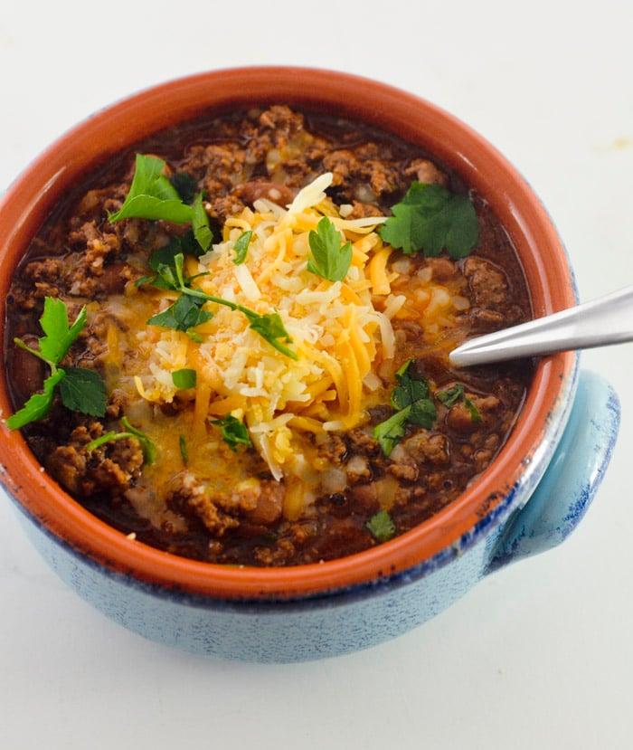 beef and chorizo chili 010