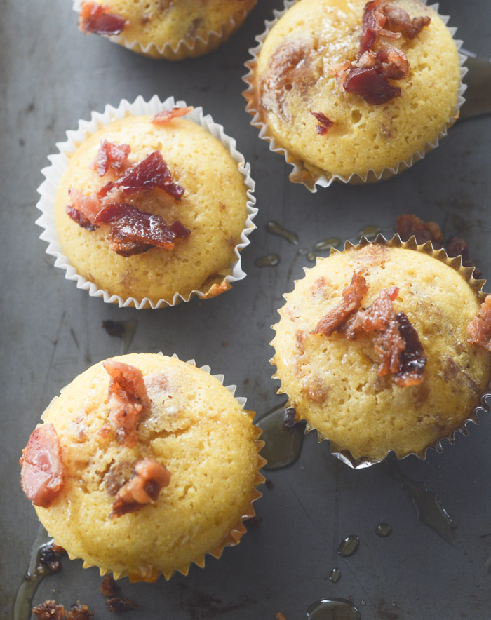 maple bacon cornbread muffins 042