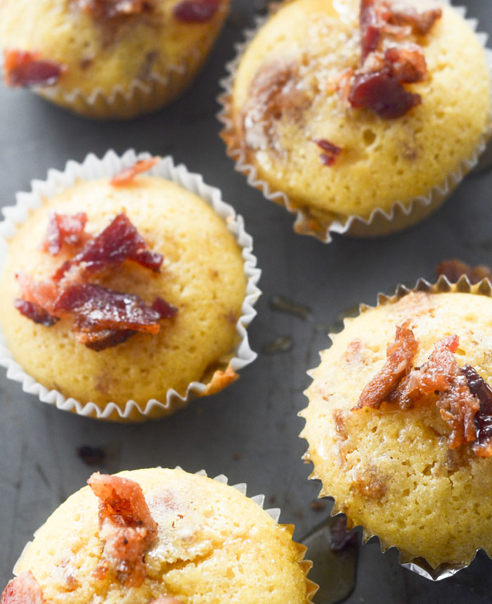 Maple-Bacon Cornbread Muffins - These muffins are great for dunking in your chili.