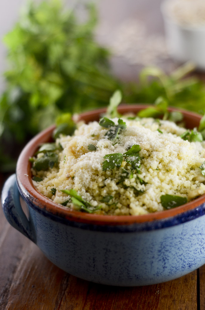Parmesan Couscous with Roasted Garlic and Pine Nuts – Recipe Diaries