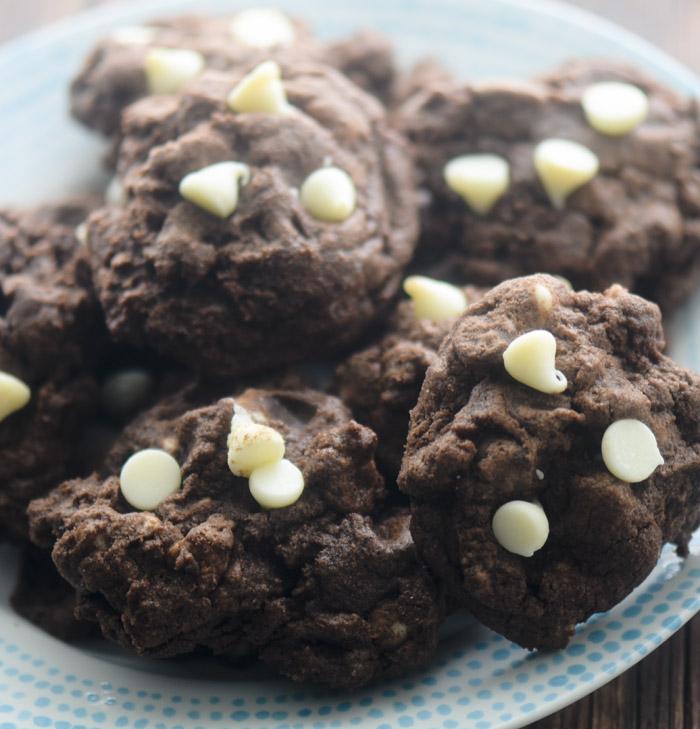 Chocolate Chocolate White Chocolate Chip Cookies - Recipe Diaries