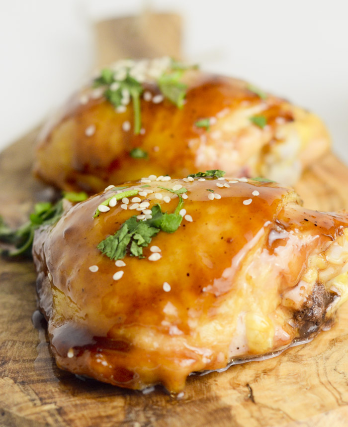 Air Fryer Hoisin And Honey Glazed Chicken Thighs Recipe Diaries