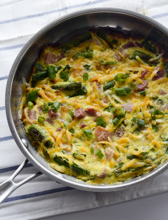 asparagus and ham fritatta 015