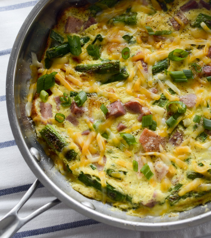 asparagus and ham fritatta 024