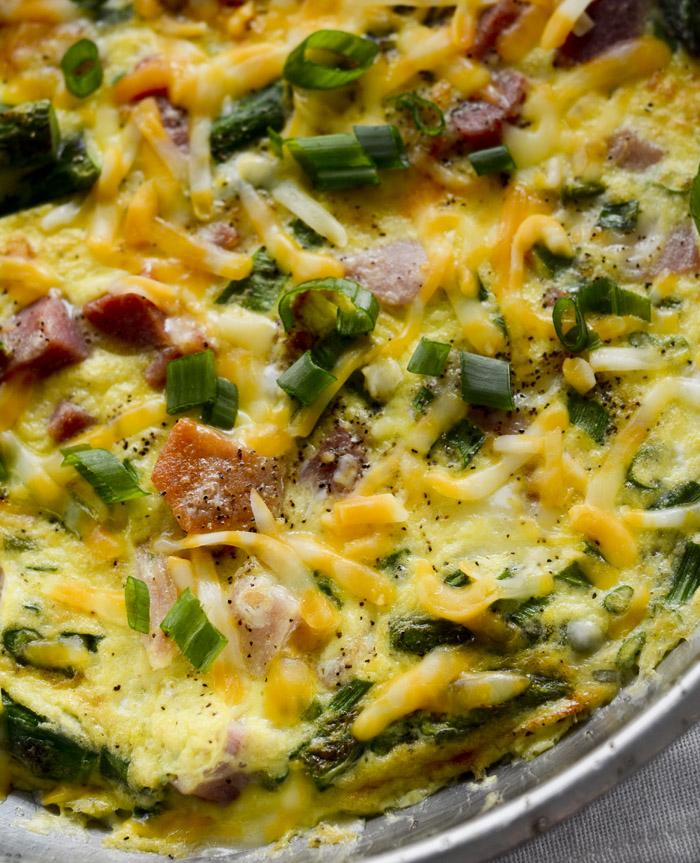 asparagus and ham fritatta 028