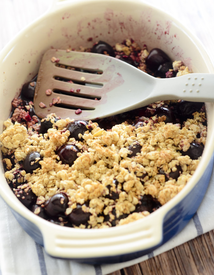 Weight Watcher's Easy Cherry Crisp