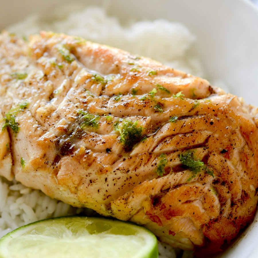 Browned Butter and Lime Salmon with Garlic and Honey - Recipe Diaries