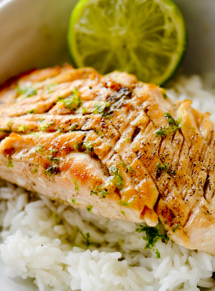 Browned Butter and Lime Salmon
