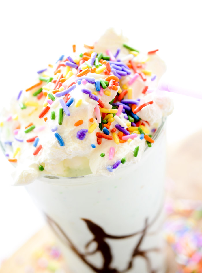 Cake Batter Mudslides - this drink you'll want for your birthday every time!